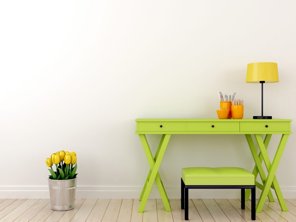 Green Table and Stool